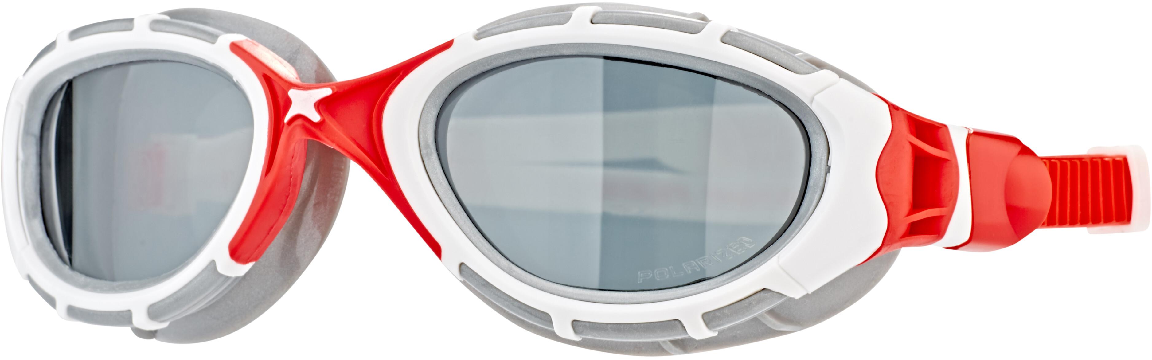 7ad599976 Zoggs Predator Flex Goggles Polarized, white/red | Campz.es